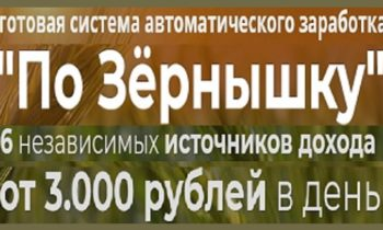 """Готовая система автоматического зapaботка """"По Зёрнышку""""!👍▶"""